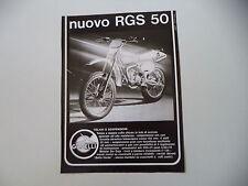 advertising Pubblicità 1978 MOTO GARELLI RGS 50