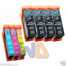 7 Pack 100XL 105XL 108XL Lexmark ink Pro207 S301 S408 Pro708 Pro901 Printer