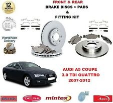 FOR AUDI A5 COUPE 3.0 TDI QUATTRO FRONT + REAR BRAKE DISCS & PADS + FITTING KIT