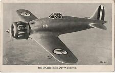 POSTCARD  AVIATION  MACCHI C 200 SAETTA  Fighter