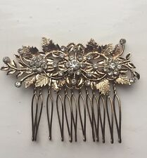 Bridesmaid Bridal Wedding Hair Comb Gold Vintage Art Deco
