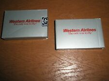 2 WESTERN AIRLINES PLAYING CARDS sealed decks    The Only Way to Fly