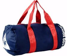 LE COQ SPORTIF Duffel Travel Gym Yoga Bag Navy Blue & Red Handles BNWT's