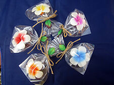 5 x Aroma Floating Candle Handcraft Gift Plumeria Flower 5 Color ( Thai Handmad)