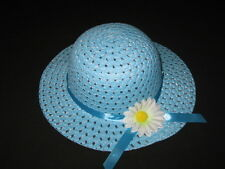 "NEW ""BLUE DAISY"" Dress Up Party Girls Easter Straw Hat Clothes Toddler Kids Tea"