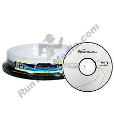 10 Optical Quantum 4x 25GB Blue Blu-ray BD-R Logo Top Blank Media Discs
