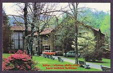 Postcard ANDERSON AUDITORIUM Montreat NC Blue Ridge Mtns '57 CHEVY Station Wagon