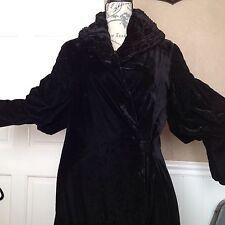 A 1920's Black Velvet Opera Coat