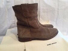 Isabel Marant Etoile SZ FR 37/US 7 Taupe Gray JENNY Suede Ankle Boots Booties