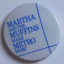 1979 Martha and The Muffins Badge, Button, Pinback