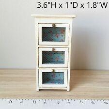 Dollhouse miniature Furniture 1:12 Shabby Chic Vegetable Storage Bin white NEW