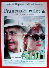 THE SWINDLE 1997 ISABELLE HUPPERT MICHEL SERRAULT C. CHABROL EXYU  MOVIE POSTER