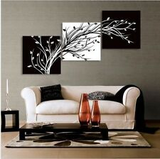HD 3pc modern canvas wall art print Black and white oil painting (no frame )