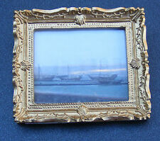 1:12 Framed Picture (Print) Of Ships In The Dawn Mist Dolls House Miniature Art