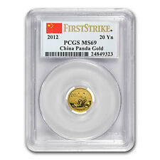 2012 1/20 oz Gold Chinese Panda Coin - MS-69 First Strike PCGS - SKU #77111