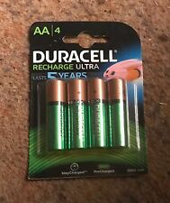 4 Duracell AA 2500 mAh Ultra Rechargeable Batteries - 4 Pack Replaces 2400