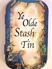 new slim 1oz hinged tobacco tin ye olde stash