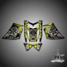 SKI-DOO REV MXZ SNOWMOBILE SLED WRAP GRAPHICS DECAL 03-07 COWBOY OUTLAW YELLOW