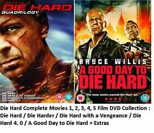 DIE HARD COMPLETE COLLECTION ALL 1 2 3 4 5 BRAND NEW AND SEALED UK REGION 2 DVD