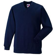 School Uniform Sweatshirt V Neck Jumper Pullover Boy Girl Russell Jerzees 272B
