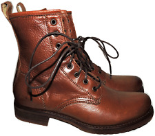 Frye Veronica Lace Up Boots Short  Ankle Booties Riding Combat Flat Shoe  6
