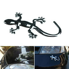 Fashion 3D Gecko Lizard Pure Metal Chrome Emblem Sticker For Cars