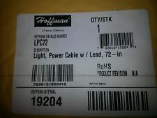 Hoffman LPC72 Light, Power Cable w/Lead, 72 in