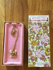 Vintage Avon Her's Prettiness Love HEART Locket Fragrance Glace with Box