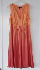 $119 INC International Concepts Dip-Dyed Orange Pink Ombre Silk Pleated Dress 6