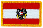 FLAG PATCH PATCHES AUSTRIA crest IRON ON COUNTRY EMBROIDERED WORLD SMALL FLAG