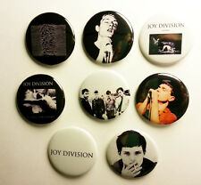 8 piece lot of English rock band joy pins buttons badges