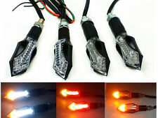 4X Amber White LED Turn Signal Indicator Braking Stop Running Tail Lights Suzuki