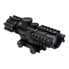 NcStar SEC3RSP2732G 2-7x32 Rangefinder Illuminated Tri Rail QR Rifle Gun Scope