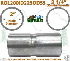"2"" ID to 2 1/4"" OD Stainless Steel Exhaust Pipe to Component Adapter Reducer"