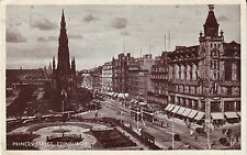 UK Scotland Edinburgh - Princes Street 1951 postcard