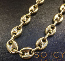 """26"""" 12.5m 57 Gram 14k Yellow Gold Italy Anchor Mariner Gucci Chain Necklace Mens"""