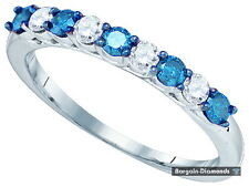 blue white diamond .48 carat 10k gold wedding anniversary band Red Carpet ring