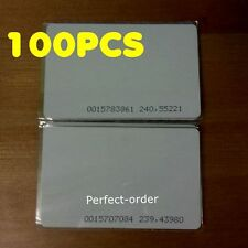 100Pcs 125KHZ RFID Cards EM4100 Proximity ID Cards For Access Control System