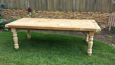 Amish made reclaimed barn wood farm harvest dining table 7' custom built