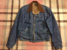 MAVERICK Blue Bell Denim Sherpa Lined Jean Jacket by Wrangler Sz. M USA!!!