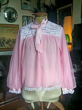 Vintage Sexy 60s Double Layered Baby Doll Chemise Bed Jacket.Bardot.Small-Med vg