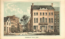 1865 cromolithograph -  tammany hall in 1830 ( new york )