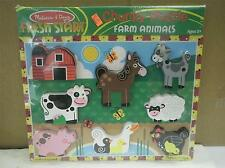 MELISSA & DOUG- #3723 FARM ANIMALS CHUNKY PUZZLE- NEW