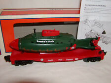 Lionel 6-29697 Flatcar with Santa's Submarine  O 027 2013 Flat Car Christmas New
