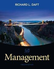Management by Daft (US HARDCOVER STUDENT 12/E;  ISBN-13: 9781285861982)