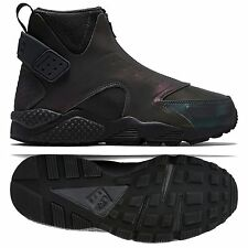 Nike Air Huarache Run Mid Premium 807314-001 Iridescent Anthracite Boots Sz 5.5