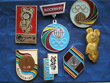 1980 Summer Olympics Moscow / Soviet Badges