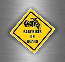 Sticker car motorcycle helmet vinyl chopper biker baby on board