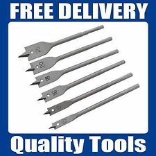6pc Flat Wood Boring Drill Bit Set