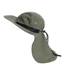 Hot Fish Boating Hiking Boonie Hunting Snap Hat Brim Ear Neck Cover Sun Flap Cap